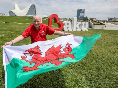 Neale Jones, a UK diplomat based in Baku, is one of the few Welsh football fans who will be in the city for Wales' Euro 2020 games (FCO/PA)