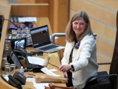 New Presiding Officer Alison Johnstone said she is 'very much a fan' of the hybrid working arrangements introduced at Holyrood during the pandemic (Russell Cheyne/PA)