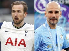 Pep Guardiola (right) takes his team to Tottenham on the opening weekend (PA)