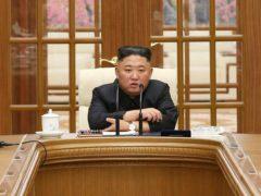 Kim Jong Un attends a meeting in Pyongyang, North Korea (Korean Central News Agency/AP)