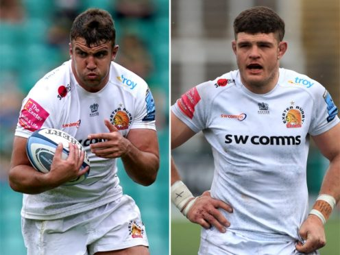Exeter duo Sam Skinner and Dave Ewers (Mike Egerton/PA)