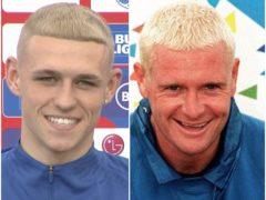 Phil Foden and Paul Gascoigne (The FA/PA)