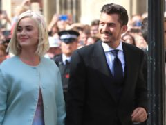 Katy Perry and Orlando Bloom (Peter Byrne/PA)