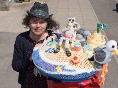 Alison Tucker's seaside-themed creation in Westward-Ho, Devon (Lockdown Letterboxes/PA