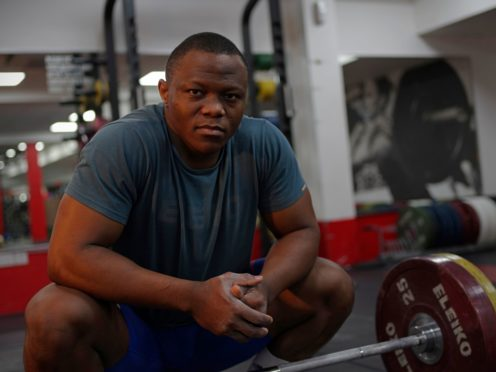 Cyrille Tchatchet is preparing to represent the Refugee Team at the Tokyo Olympics (UNHCR/Béla Szandelszky)