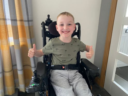 Kaiden Freeman, eight, of Norwich, is to have an operation called Selective Dorsal Rhizotomy to improve his mobility after a £40,000 fundraising effort (Family photo/ PA)
