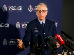 Detective Superintendent Greg Williams addresses the media on Operation Trojan at the Auckland Central Police headquarters in New Zealand (Jed Bradley/NZ Herald via AP)
