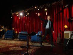 柯南奥布莱恩将窗帘带到他的28年的职业生涯中,在Leed-Dight电视中,在名人的帮助下将是Ferrell和Jack Black(Coco / Pa队)