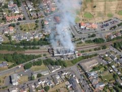The fire left the station buildings badly damaged (Network Rail Scotland/PA)