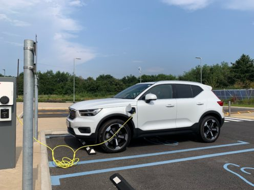 The XC40 was left to charge slowly