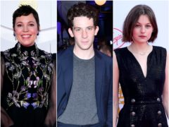 The Crown stars Olivia Colman, Emma Corrin and Josh O'Connor all scored Emmy Award nominations (pa)