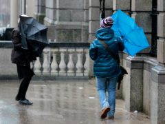 The Met Office said the storm will bring 'unseasonably strong winds and heavy rain' (PA)