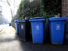 Bin collections appeared to be the worst affected (Steve Parsons/PA)