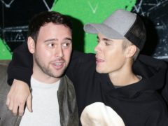 Music mogul Scooter Braun, pictured with his client Justin Bieber, has filed for divorce from wife of seven years Yael Cohen (Yui Mok/PA)