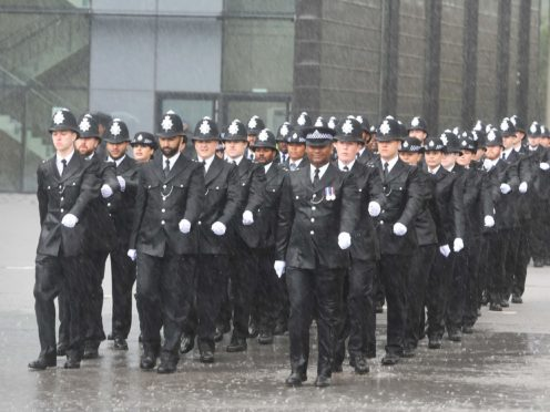 Police passing out parade (PA)