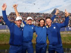 Ryder Cup team-mates Paul Casey (left) and Tommy Fleetwood (second right) will represent Team GB in Tokyo (David Davies/PA)