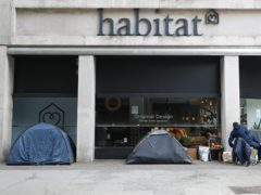 Homeless people's tents (Yui Mok/PA)