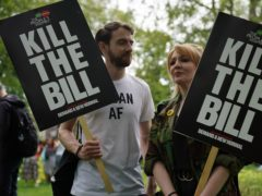 Demonstrators during a 'Kill The Bill' protest (Aaron Chown/PA)