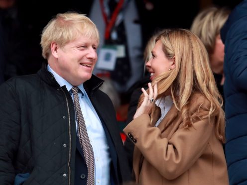 Prime Minister Boris Johnson and his wife, Carrie (Adam Davy/PA)
