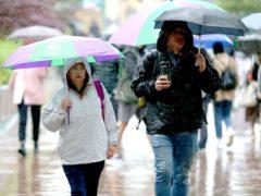 Heavy rain is forecast on Saturday (Steven Paston/PA)