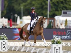 Charlotte Dujardin and her Tokyo Olympics horse Gio (Steve Parsons/PA)