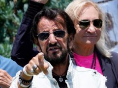 Sir Ringo Starr spread a message of 'peace and love' as he celebrated his 81st birthday (AP Photo/Chris Pizzello)