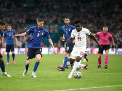 England's Bukayo Saka was the victim of online abuse following the Euro 2020 final (Mike Egerton/PA)