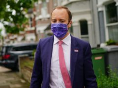 Councillors in Newmarket, Suffolk, have passed a vote of no confidence in their local MP, former health secretary Matt Hancock (Aaron Chown/PA)
