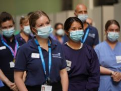 NHS staff in England are to receive a 3% pay increase (Kirsty O'Connor/PA).