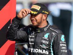 Lewis Hamilton topped final practice (Tim Goode/PA)