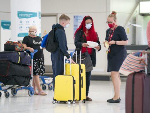 Labour said an estimated 5,857,558 tourists face the prospect of last-minute quarantine requirements (Jane Barlow/PA)