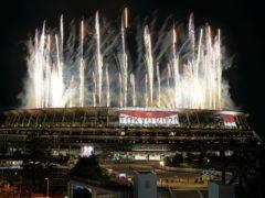 Despite the fireworks, the Tokyo 2020 opening ceremony was an understated affair (Shuji Kajiyama/AP)