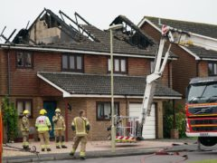 Two houses were badly damaged in the incident (Andrew Matthews/PA)