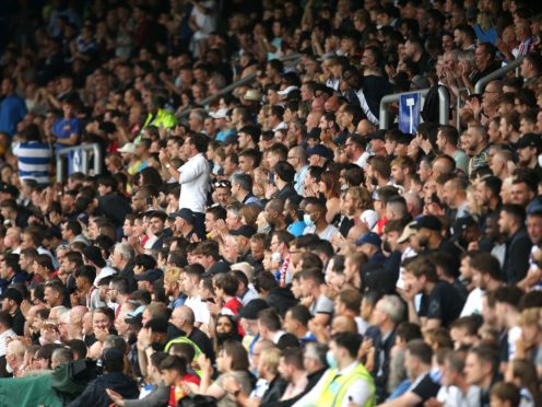 QPR fans in the stands during Saturday's pre-season friendly with Manchester United (Steven Paston/PA).
