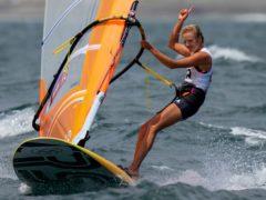 Emma Wilson won windsurfing bronze for Great Britain (Bernat Armangue/AP)
