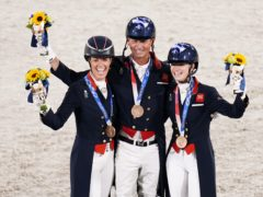 Great Britain's dressage team have won a bronze medal (Danny Lawson/PA)