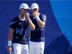 Andy Murray, right, and Joe Salisbury were beaten in the quarter-finals (Patrick Semansky/AP)