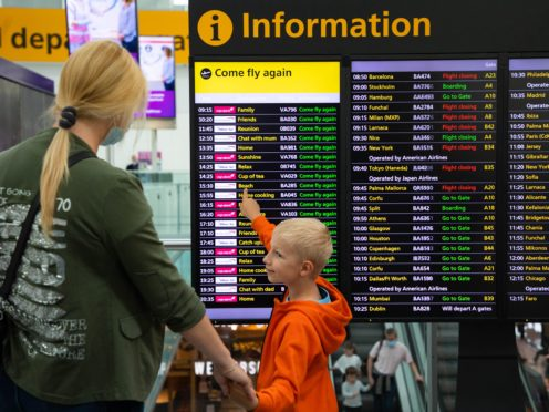 Travel firms saw shares fly higher on Wednesday (David Parry/PA)