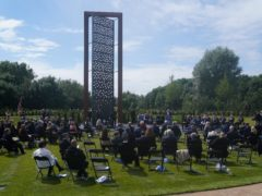 Tthe UK Police Memorial has been unveiled (Jacob King/PA)