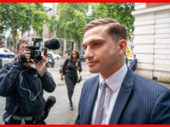 Lewis Hughes, 24, has admitted assaulting England's chief medical officer Professor Chris Whitty (Dominic Lipinski/PA).