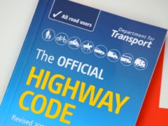 The official Highway Code book (PA)