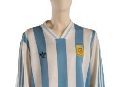 Match-worn boots and shirts once belonging to Diego Maradona are among a trove of sporting memorabilia going under the hammer (Julien's Auctions/PA)