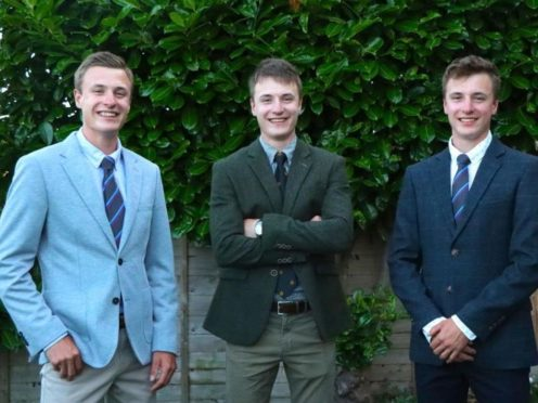 Charlie, Thomas and Harry White have all graduated with first class geography degrees from the University of Portsmouth (University of Portsmouth/PA)