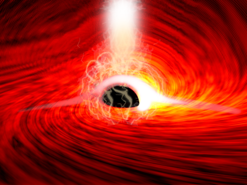 Light behind black hole seen by scientists for the first time (Dan Wilkins/PA)