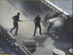 Fishmongers' Hall terrorist Usman Khan was confronted by three men including Steve Gallant on London Bridge (Metropolitan Police/PA)