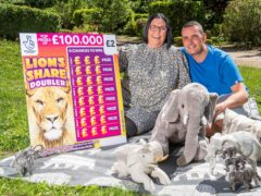 Cancer patient Louise Tate won £100,000 on a scratchcard featuring 'lucky' elephants (Anthony Devlin/PA)