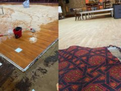 A dancefloor at a social club in Walthamstow may well have been saved by volunteers (Daniel Barnard/PA)