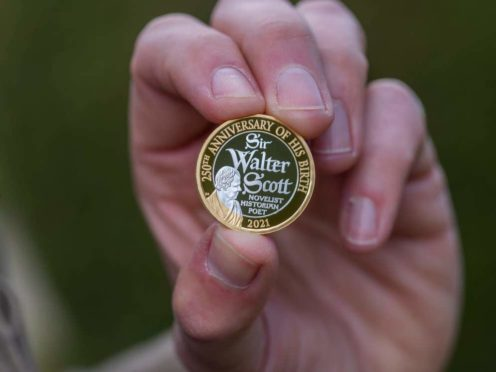 A Sir Walter Scott coin (Royal Mint/PA)