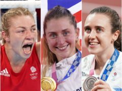 Lauren Price (left), Laura Kenny (centre) and Laura Muir stole the headlines on Friday (Martin Rickett/Danny Lawson/Mike Egerton/PA)