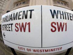 Parliament Street and Whitehall street sign (Victoria Jones/PA)